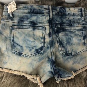 Vanilla Star Shorts - Woman's size 3 denim studded cut off jean shorts